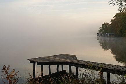 Leichter Morgennebel am Weßlinger See