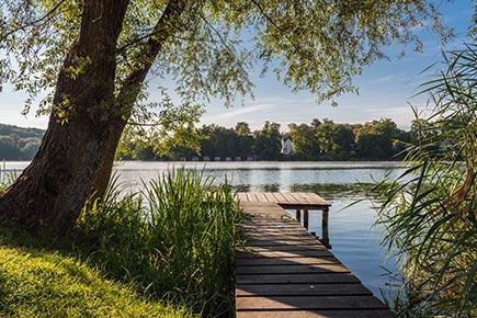 Weßlinger See mit Steg